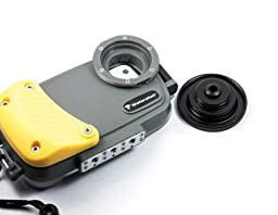 Watershot PRO Underwater Housing for iPhone 5/5S, Grey/Yellow