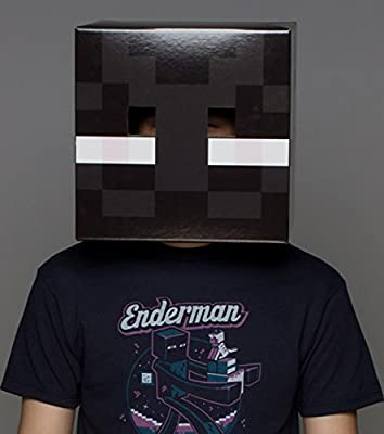 Jinx Men's Minecraft Enderman Cardboard Head Mask