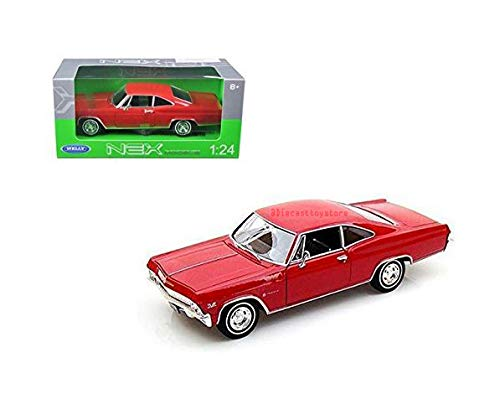 Impala Chevrolet Hardtop - DIECAST 1:24 Display - 1965 Chevrolet Impala SS 396 Hardtop 1PC NO Retail Box 22417-4D by Welly