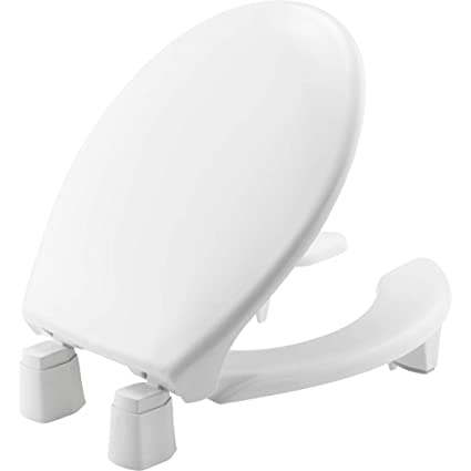 Groovy Bemis Independence 7Yr82350Tc 000 Closed Front Elevated Raised Toilet Seat With 3 Lift Round Open White Creativecarmelina Interior Chair Design Creativecarmelinacom