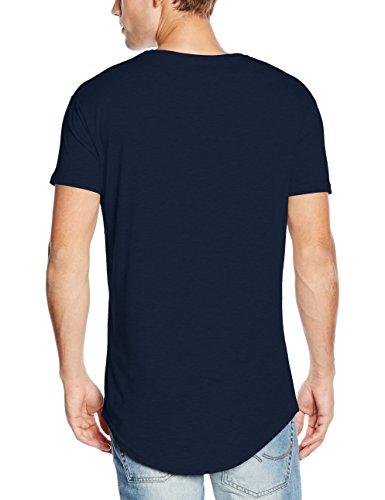 Sik Silk Siksilk Curved Hem Tee, Camiseta para Hombre azul (marino)