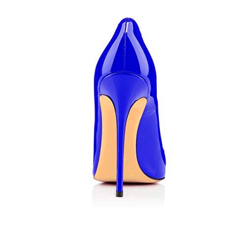Blue Classiche Col Scarpe Tacco da Donna uBeauty Col Scarpe Scarpe Tacco ZvqpdY