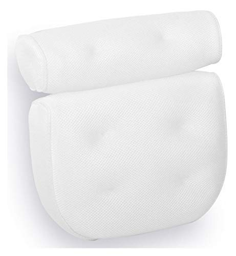Royal Casa Bath Pillow - Non Slip, Luxury Bathtub Pillow for Your Head & Neck. Anti-Mold & Waterproof. This Spa Cushion has 6 Extra Large Suction Cups to Guarantee The Best Relaxing Experience