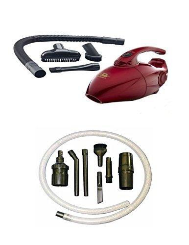 Fuller Mini Maid Handheld Vacuum and 7 Piece Extra Micro Attachment Set (Fuller Brush Mini Maid Handheld Vacuum With Tools)