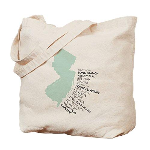 CafePress - NJ SHORE - Natural Canvas Tote Bag, Cloth Shopping - Shopping Jersey Shore
