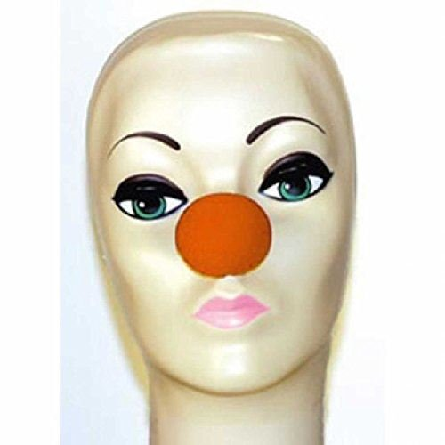 Goshman Orange Foam Clown Noses (1 -