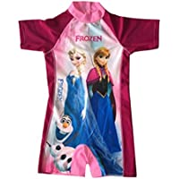 98402c3a09 LC Boutique Little Girls One Piece Rashguard Swimsuit Frozen Princess in  sizes 4 to 9.