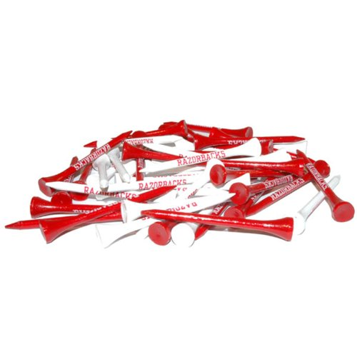 Arkansas Razorbacks Tee Pack (NCAA Arkansas Razorbacks Pack Of 50 Golf Tees)