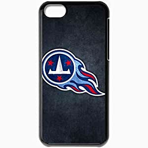 Personalized iPhone 5C Cell phone Case/Cover Skin Nfl Tennessee Titans 6 Sport Black