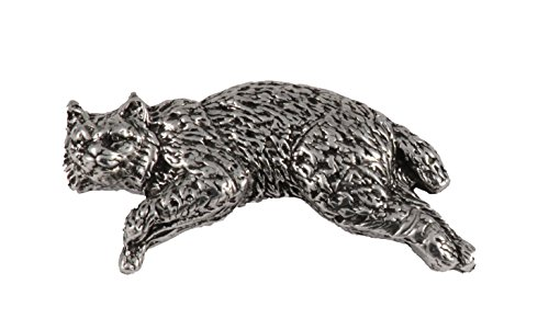 Bobcat Full Body Mammal Pewter Lapel Pin, Brooch, Jewelry, M048