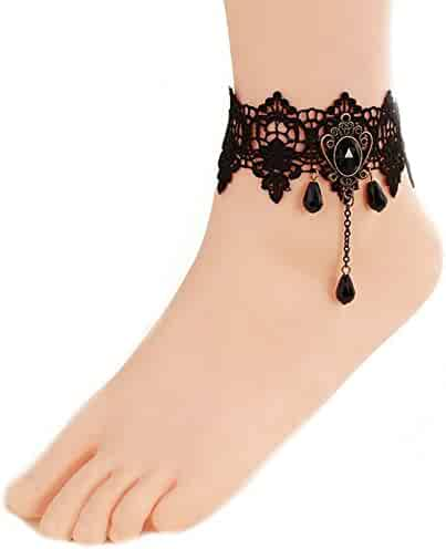 SONGLIN 1 Pair Sandal Beach Turquoise Barefoot Sandals Foot Jewelry Anklet Chain Foot Bracelet