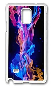 Adorable flames Hard Case Protective Shell Cell Phone For Case HTC One M8 Cover - PC White