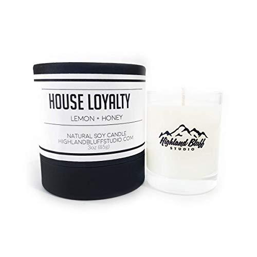 House Loyalty - 3oz Soy Candle - Lemon and Honey - Signature Series Mini