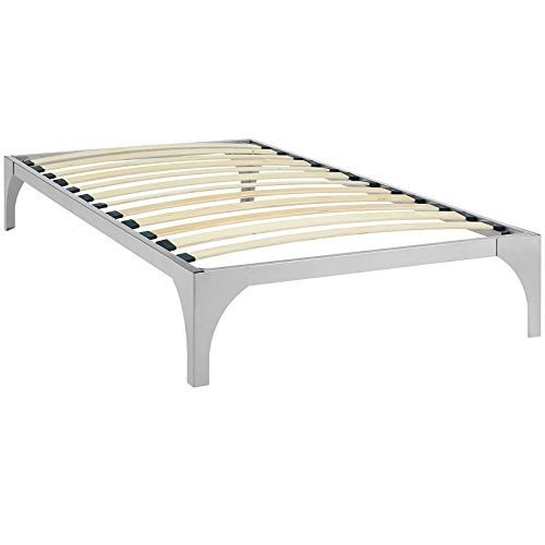 Modway Ollie Steel Twin Modern Platform Bed Frame Mattress F