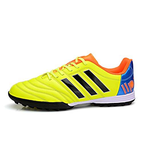 Xing Lin Chaussures De Football Chaussures De Football Chaussures De Football Tf Patinage Étudiants Hommes Et Femmes De La Pelouse En Gazon Artificiel Chaussures Des Enfants Respirant, 37, Vert Fluore