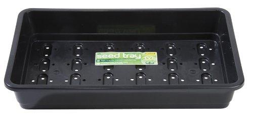 3 Garland Full Size Standard Seed Trays, 38cm, black