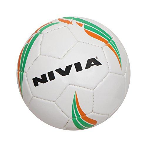 Nivia Machine Stitched Football, Size 5  White