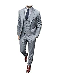 Lilis® Men's Slim Fit Classic 2 Button 3 Piece Business Farmal Suit Set Custom Made