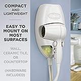 Conair 1600 Watt Wall-Mount Hair Dryer with LED Night Light, White