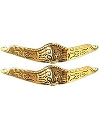 Pair Metal Toe Caps/Tips Western Filigree O/S Gold