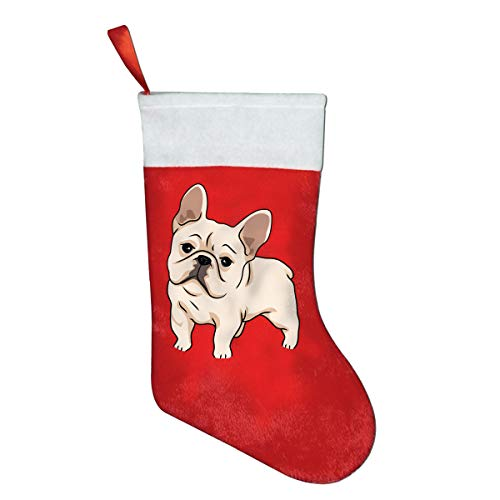 CYMO French Bulldog Christmas Stockings Socks Gift Bag Decoration Home Decor 1 - Needlepoint Nativity