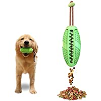 Dog IQ Treat Ball/Interactive Food Dispensing Dog Toy/Dog Toothbrush, 3 in 1 Multifunction Dog Chew Toys (green)