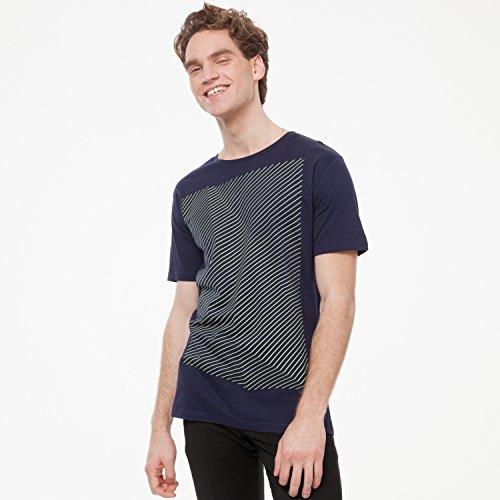 ThokkThokk Crooked Stripes T-Shirt pale green/midnight aus 100% Biobaumwolle hergestellt // GOTS und Fairtrade zertifiziert