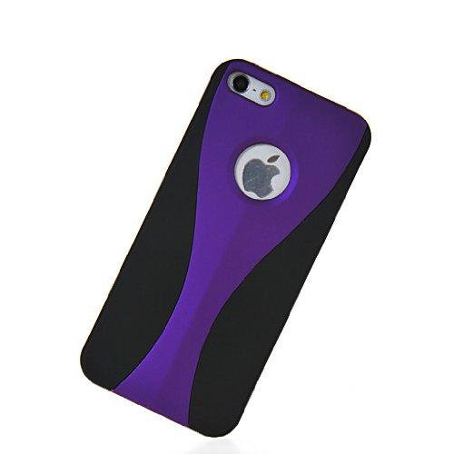 MOONCASE Hard Shell Cover Housse Coque Etui Case Pour Apple iPhone 5 5G Voilet