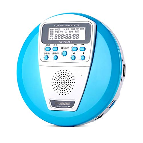 YC electronics Home Audio Learning CD Player Portable Player Audio Home Children's Mini Walkman U Disk Mp3 Disc Prenatal Music Portable Players (Color : Blue) (Best Portable Cd Player With Dab Radio)