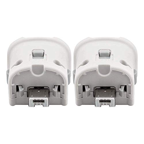(Motion Plus Adapter for Wii Remote, Dotca RN07 2 Pcs Wii Motion Plus Adapter for Original Nintendo Wii Controller-White)