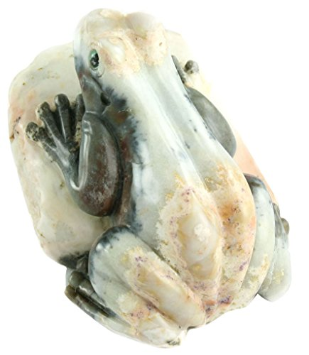 One of a Kind Frog Carving in Natural Agate Collectible Item by Simplicity (Image #1)