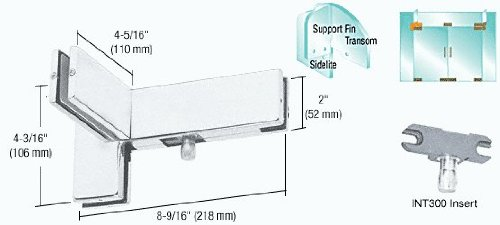 Aluminum Right Hand Sidelite Transom Patch with Support Fin Bracket and 1NT300 Insert