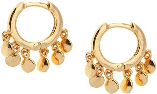 SHASHI Women's Ashley Huggie Earrings Gold/Vermeil One Size (Vermeil Huggie Earrings)