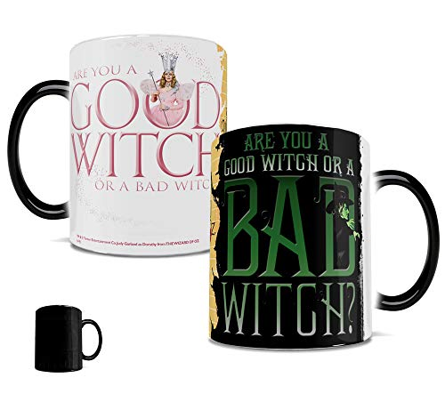 Morphing Mugs Wizard of Oz (Good Witch Bad Witch) Ceramic Mug, Black -