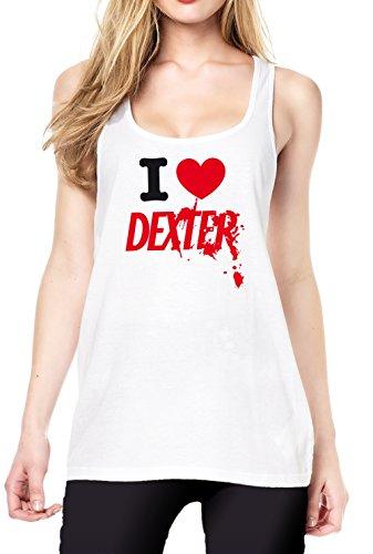 I Love Dexter Tanktop Girls White Certified Freak
