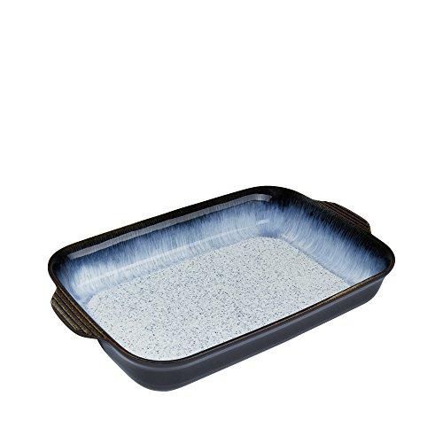 Denby USA Halo Alt Rectangular Oven Dish, Blue, Large (Rectangular Blue Roaster)
