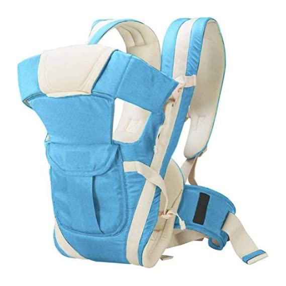 Blue Tree 4 in 1 Position Front Facing Baby Carry Bag with Strong Belt (Sky Blue)