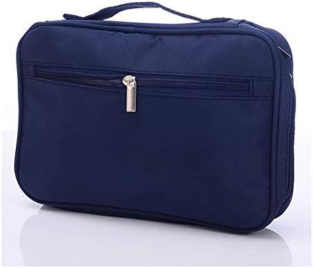 YouNITE 1PCSメイクアップブラシ主催旅行トイレタリーバッグ化粧品の収納ケース美容ツールポーチバッグ女性のプロフェッショナルメイクアップバッグ (Color : Navy)