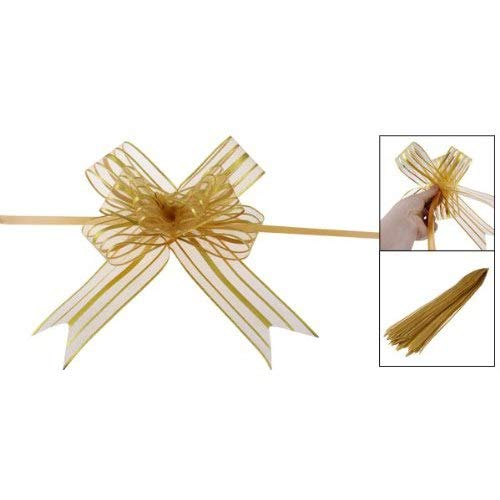 Glitter Plastic Butterfly - Pull Bow - Szs Gift Glittery Pull Bow Ribbon Gold Tone 10pcs - Ornament Adults Wedding Butterfly Plastic Pull Thread Wave Christmas Ribbon Kids Gift Organza Tape Glitter Metal Flower Wrap Cra