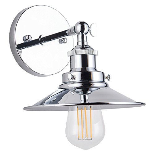 Andante LED Industrial Wall Sconce Fixture - Chrome - Linea di Liara LL-WL407-PC - Two Light Wall Scone