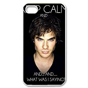 Personalized AXL394059 Durable Cell Phone Case For Iphone 4,4S Cover Case w/ The Vampire Diaries