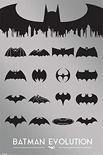 Pyramid International Batman Evolution DC Comics 75 Years Anniversary Bat Logos Icons Poster 24x36 Inch