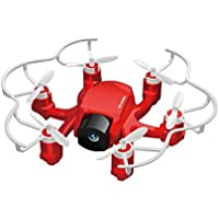 Goolsky Mini Spider Hexacopter Drone with 2MP HD Camera Headless Mode 2.4GHz 4CH 6-Axis Gyro RTF 3D-flip&One-key Return Function RC Quadcopter
