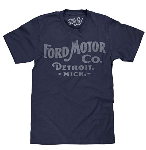Tee Luv Ford Motor Company Shirt - Ford Detroit Graphic Tee Shirt (XXX-Large)
