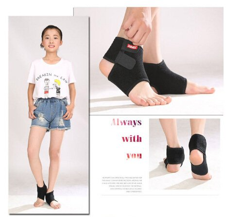Ankle Brace Support for Kids, Breathable Adjustable Compression Ankle Tendo Foot Support Sleeve Stable Wraps Guard for Running Basketball Ankle Sprain Injuries Relief Joint Pain by Greenery-GRE (Image #1)