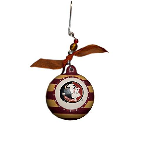 - Glory Haus Florida State Stripe Ornament, 4-Inch