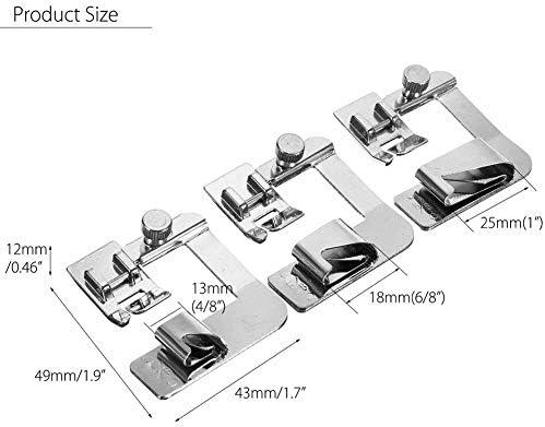 YEQIN - Juego de prensatelas para máquina de coser (3 unidades ...