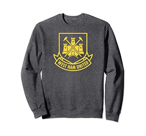 (West Ham United Yellow Castle Crewneck Sweatshirt Dark Gray)