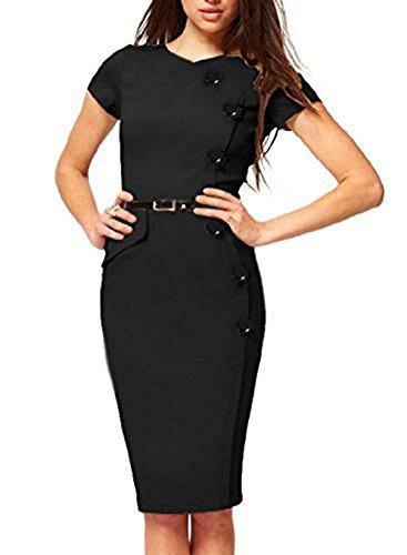 c83b7ab7fa9 Mariage Moulante Des Les Noir Cocktail Robes Formel Marine Parti D affaires  Pencil Asymétrique Style Femmes ...