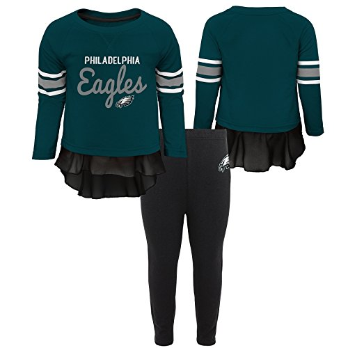 Outerstuff NFL Philadelphia Eagles Infant Mini Formation Long Sleeve Top & Legging Set Jade, 24 Months